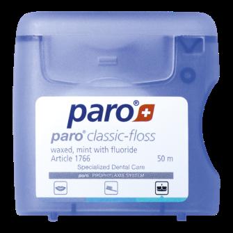 paro® classic-floss, gewachst, 50 m,Packung à 12 Stück