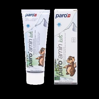paro® amin kids Kinderzahnpasta, 75 ml,Packung à 12 Tuben